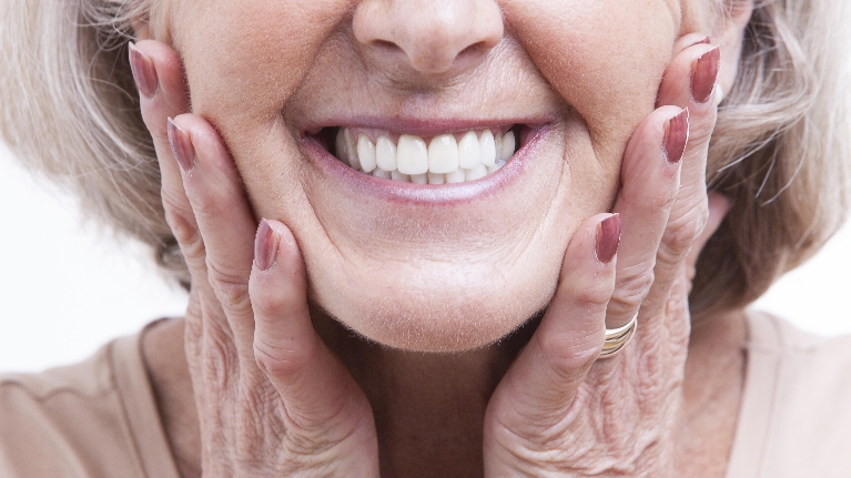 Older Woman Smiling | Woodin Creek Dental