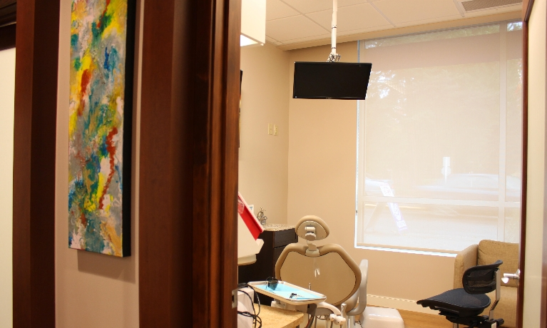 Warm and relaxing, private treatment rooms-Woodinville Dental office